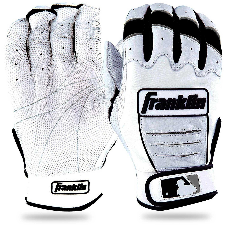 10576F6 WHITE NEW FRANKLIN CFX PRO ADULT XXL BASEBALL BATTING GLOVES