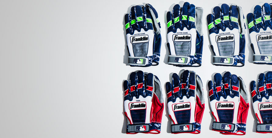 custom team batting gloves