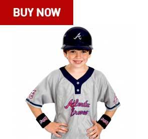 atlanta braves kids uniform set