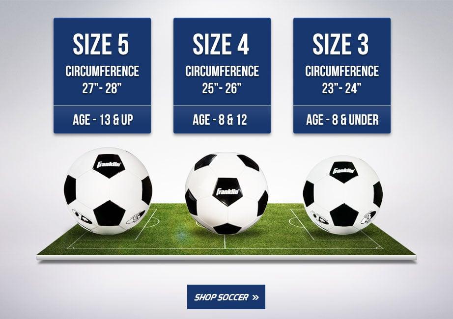 Official Soccer Ball Sizes Chart
