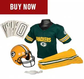 reputable site d777a 59778 Green Bay Packers Kids Jerseys & Costumes | Franklin Sports