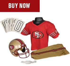 premium selection 71259 14dc7 Shop Kids 49ers Jerseys, Helmets & Gear | Franklin Sports