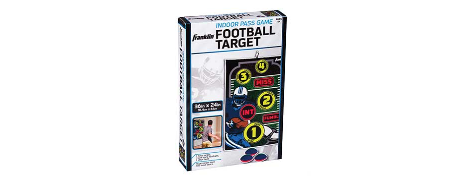 indoor football target pass franklin sports